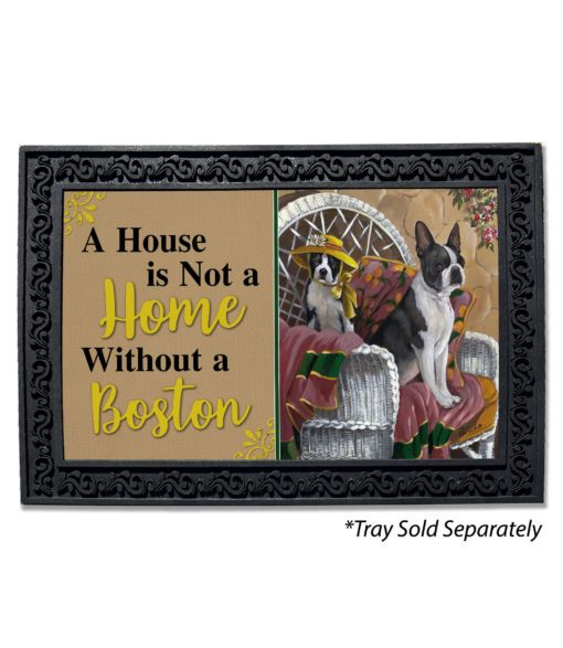 Boston Terrier Patio Gems House Not A Home Doormat