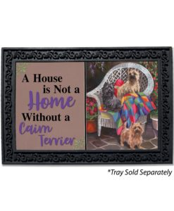 Cairn Terrier Trio House Is Not A Home Doormat