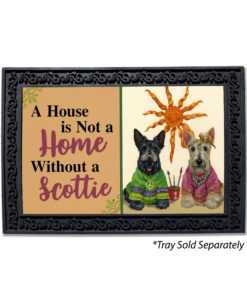 Scottish Terrier Hippie Dippies House Is Not a Home Doormat