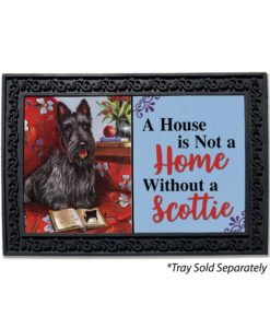 Scottish Terrier Lil Einstein House Is Not a Home Doormat