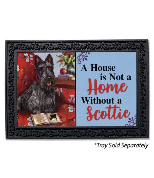 Scottish Terrier Lil Einstein House Is Not a Home Doormat