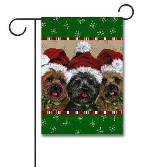 Cairn Terrier Caesar & Company - Garden Flag - 12.5'' x 18''