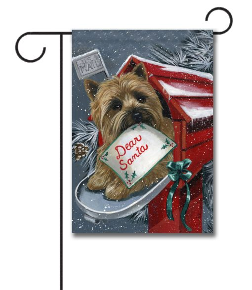Cairn Terrier Dear Santa - Garden Flag - 12.5'' x 18''