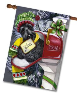 Scottish Terrier Letter to Santa - House Flag - 28'' x 40''
