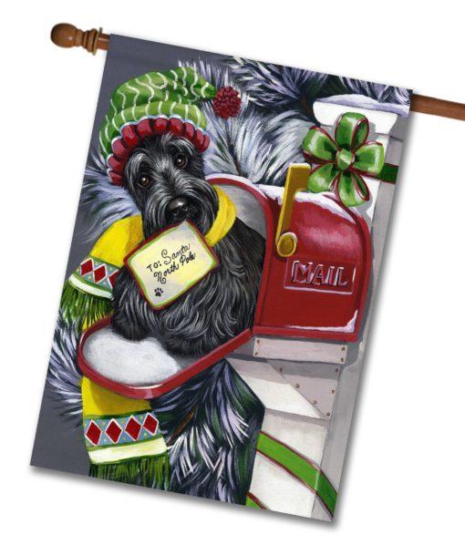 Scottish Terrier Letter to Santa - House Flag - 28'' x 40''