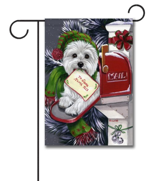 West Highland Terrier Letter to Santa - Garden Flag - 12.5'' x 18''