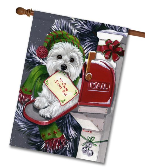 West Highland Terrier Letter to Santa - House Flag - 28'' x 40''