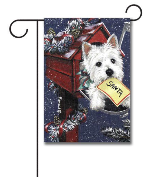 West Highland Terrier Zoe's List - Garden Flag - 12.5'' x 18''
