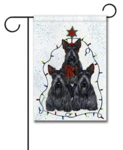 Scottish Terrier Holiday Tree - Garden Flag - 12.5'' x 18''