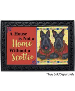 Scottish Terrier Scotties Rule House Is Not a Home Doormat