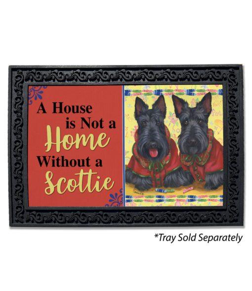 Scottish Terrier Scotties Rule House Is Not a Home Doormat