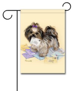 Shih Tzu Fan Mail - Garden Flag - 12.5'' x 18''