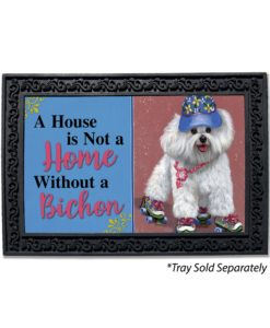 Bichon Frise Roller Skating House Is Not A Home Doormat