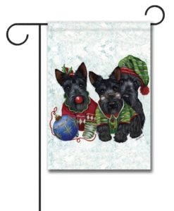Scottish Terrier Elves - Garden Flag - 12.5'' x 18''