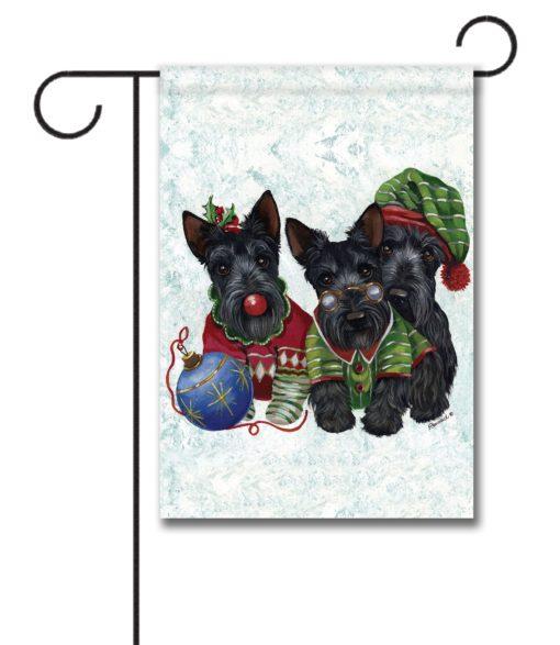 Scottish Terrier Elves - Garden Flag - 12.5'' x 18''