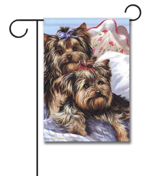 Yorkshire Terrier Bed Bugs - Garden Flag - 12.5'' x 18''