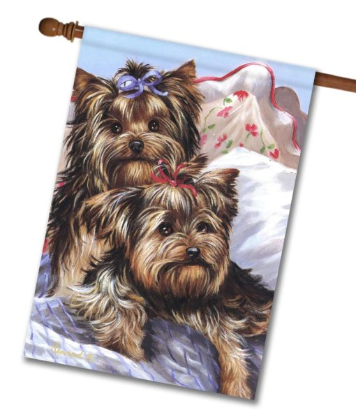Yorkshire Terrier Bed Bugs - House Flag - 28'' x 40''