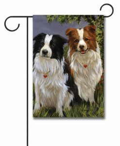 Border Collie Patrol - Garden Flag - 12.5'' x 18''