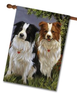 Border Collie Patrol - House Flag - 28'' x 40''