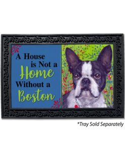 Boston Terrier Jungle House Not A Home Doormat