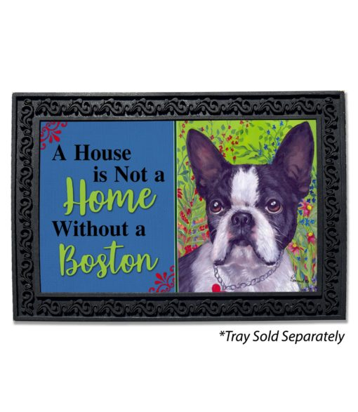 Boston Terrier Jungle House Not A Home Doormat
