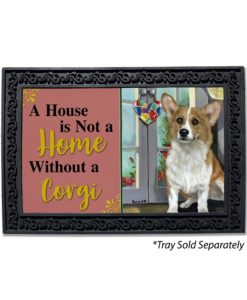 Corgi Suncatcher House Not A Home Doormat