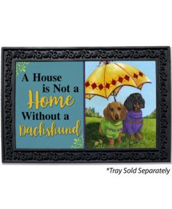 Dachshund Hot Doggies House Not A Home Doormat