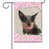 Spring Flowers Australian Cattle Dog - Garden Flag - 12.5'' x 18''