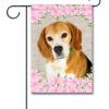 Spring Flowers Beagle - Garden Flag - 12.5'' x 18''