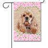Spring Flowers Cocker Spaniel - Garden Flag - 12.5'' x 18''