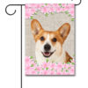 Spring Flowers Corgi - Garden Flag - 12.5'' x 18''