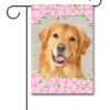 Spring Flowers Golden Retriever - Garden Flag - 12.5'' x 18''
