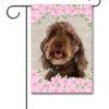 Spring Flowers Labradoodle - Garden Flag - 12.5'' x 18''