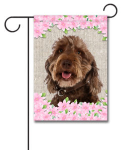 Spring Flowers Labradoodle - Garden Flag - 12.5'' x 18''