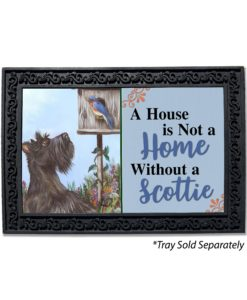 Scottish Terrier Bluebird House Is Not a Home Doormat