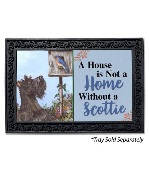 Scottish Terrier Bluebird House Is Not a Home Doormat