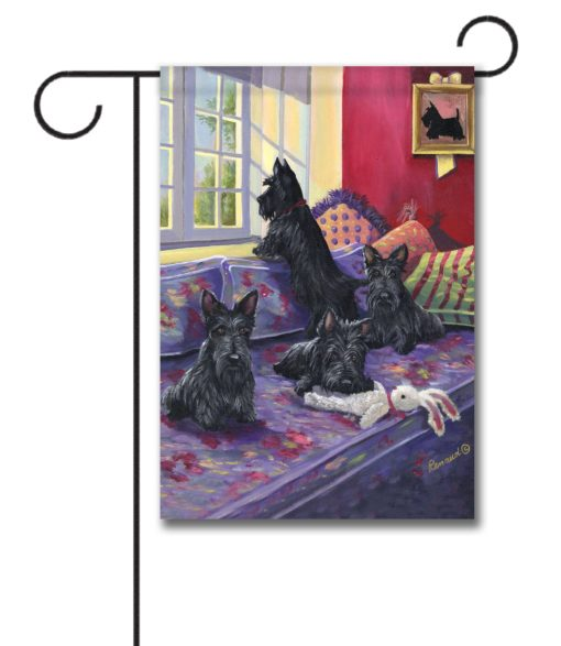Scottish Terrier Daybed - Garden Flag - 12.5'' x 18''