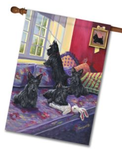 Scottish Terrier Daybed - House Flag - 28'' x 40''
