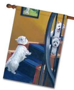 West Highland Terrier Going Up - House Flag - 28'' x 40''