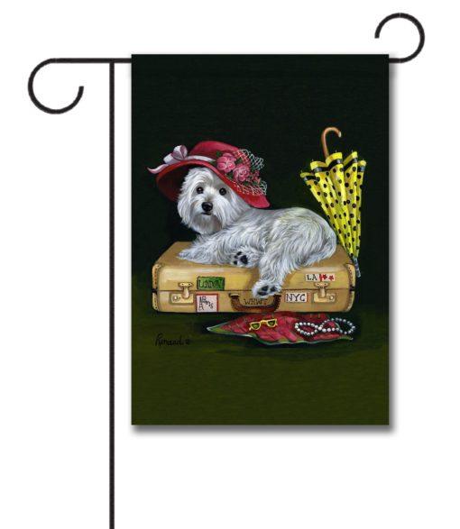 West Highland Terrier Showgirl - Garden Flag - 12.5'' x 18''