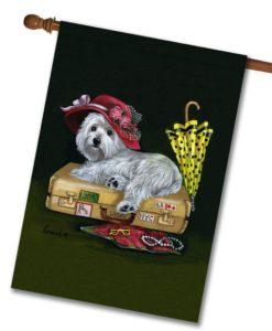 West Highland Terrier Showgirl - House Flag - 28'' x 40''