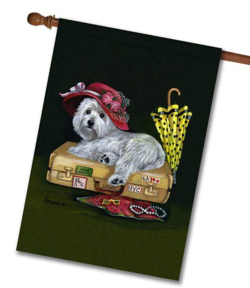 West Highland Terrier Showgirl - House Flag - 28'' x 40''