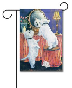 West Highland Terrier Boudoir - Garden Flag - 12.5'' x 18''