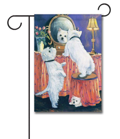 West Highland Terrier Boudoir - Garden Flag - 12.5'' x 18''