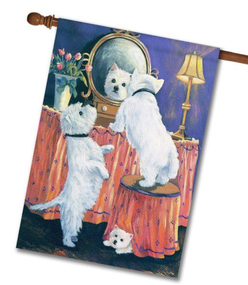 West Highland Terrier Boudoir - House Flag - 28'' x 40''