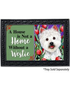 West Highland Terrier Peek-A-Boo House Is Not a Home Doormat