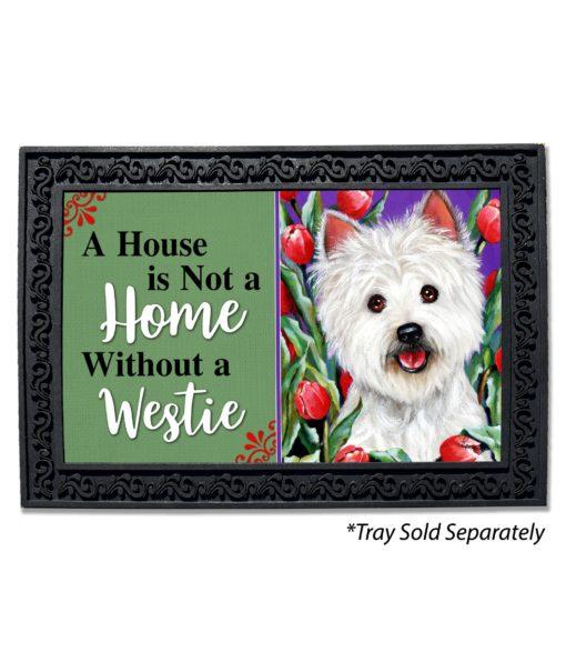 West Highland Terrier Peek-A-Boo House Is Not a Home Doormat