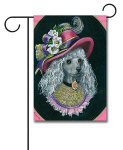 Poodle Lady Alexandria - Garden Flag - 12.5'' x 18''