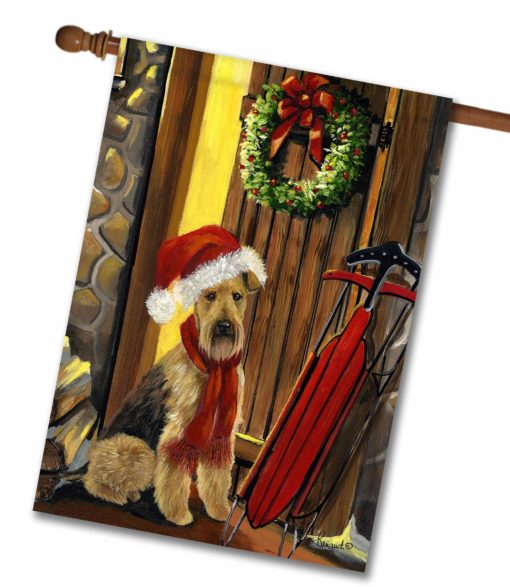 Airedale Terrier Welcome Home - House Flag - 28'' x 40''