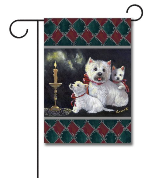 West Highland Terrier Aglow - Garden Flag - 12.5'' x 18''